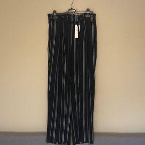 (NWT) Vince tie front wide leg silk pant
